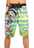 Surreal Stripes Battle Board Shorts