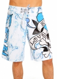 Love Kills Slowly Smoking Board Shorts