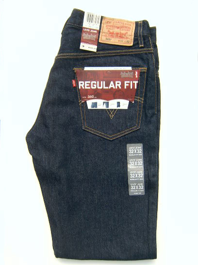 Levis 505 Regular Fit. Dark denim.  18a5dee87b